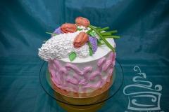 """Торт """"Тюльпаны и сирень III"""""""