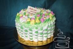 """Торт """"Нарциссы и тюльпаны"""""""