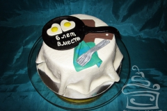 "Торт ""6 лет вместе"""