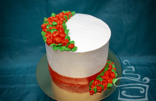 """Торт """"Алые розы"""""""